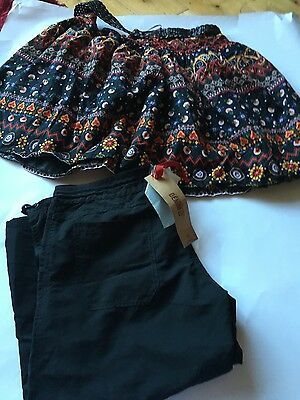 ladies size 10 bundle skirt and black 3/4 trousers