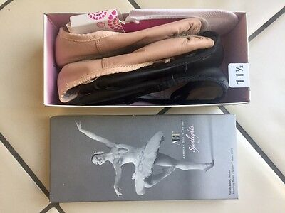 American Ballet Theatre Spotlight pointe shoes slippers flats size 11 1/2 girls