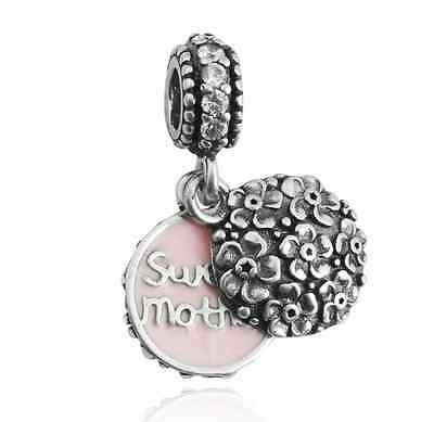 HOT sweet mother Charm Beads Fit sterling Bracelet Pendant Necklace A#344