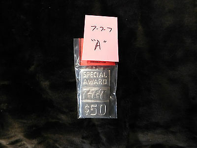 Mills Repro 777 Special $50 Award Hi Top Plate For A Mills Antq Slot Machine #a