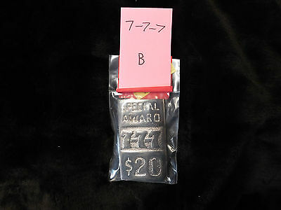 Mills Repro 777 Special $20 Award Hi Top Plate For A Mills Antq Slot Machine #b