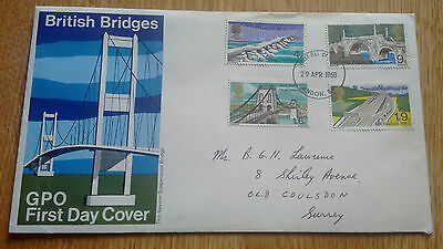 GB QEII 1968 British Bridges illustrated FDC - London FDI cancellation