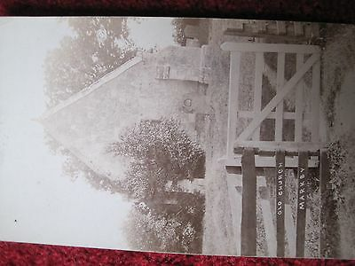 Lincolnshire:   Old Church, Markby.  Real Photo ,  Nainby, Photographer, Alford.