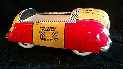 Speedy Taxi Cab Co.Retro Style Cookie Jar By Henry Cavanagh. No Lid, Mint Bottom