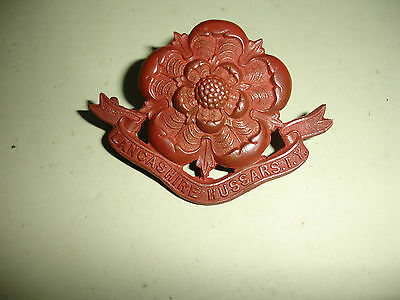 Boer War 1901 Lancashire Hussars Imperial Yeomanry Hat Badge possibly Bronze