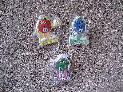 M&m's- 3 M&m Magnet Chip Clips-   Brand New/never Used
