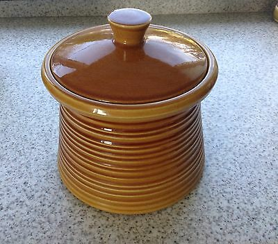 Crown Devon Casserole or Covered Pot Honey Treacle Brown Glaze, Very Pretty