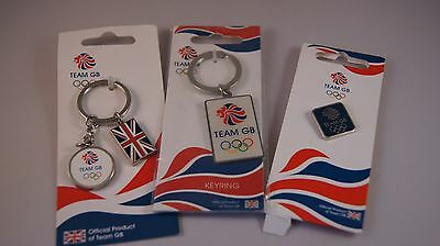 Official Team GB Keyrings And Pin Badge 2012