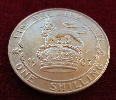 1907 King Edward VII Silver One Shilling Coin