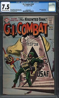 G. I. Combat #100 Cgc 7.5 Cr/ow Pages Grey Tone Cover 1963