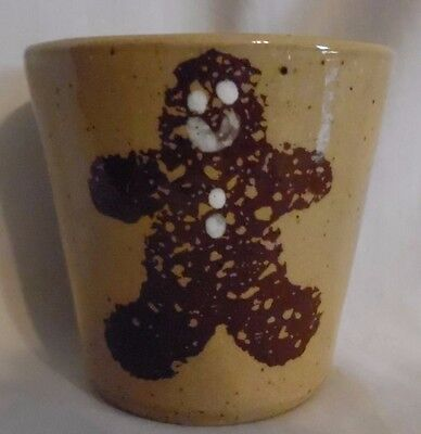 """Gingerbread Pottery Cup Collectible 3""""X 3"""""""