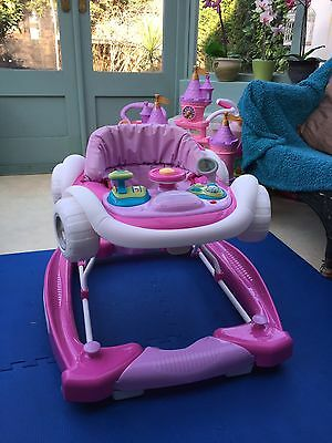Girls Pink Baby Walker And Rocker, With Lights And Sounds Excellent Condition