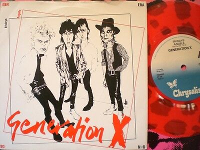 Punk - Generation X - Fridays Angels - Red Vinyl - Picture Cover