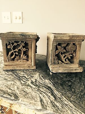 Wonderful Pair Of Antique Roof Tiles