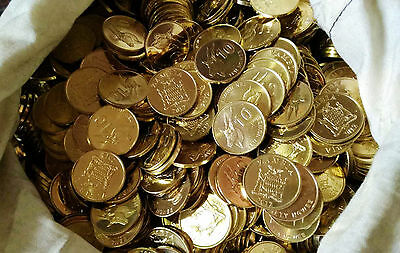 Zambia 10 Ngwee antelope 20mm copper plated steel dealer Coins lot UNC 100PCS