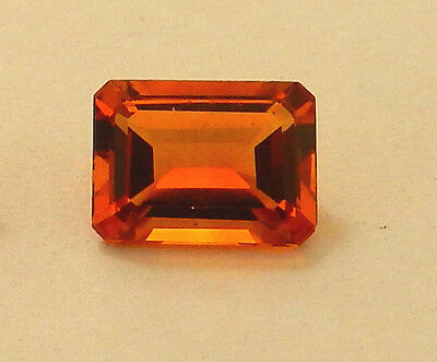 Golden Shades of Citrine 7x5 mm Octagon Faceted Stones-  1 pc.