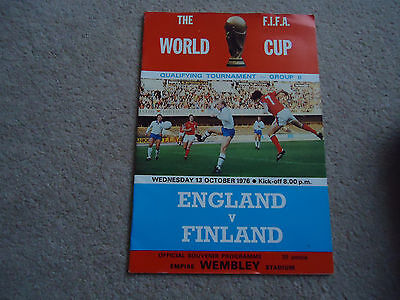 The World Cup Fifa England V Finland 13Th October 1976 Group Ii