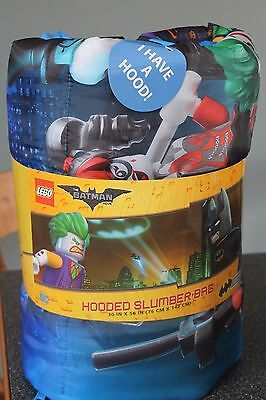 DC LEGO BATMAN  Hooded Slumber Sleeping Bag Sleepover Party Kid Bedding