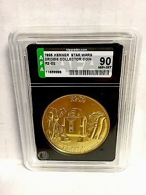 Star Wars R2 D2 Droids Coin Afa 90 Kenner Vintage 1985 Very Gold Anh Esb Rotj