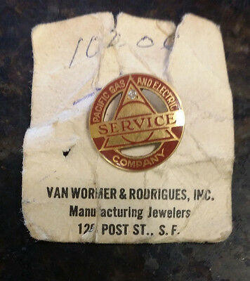 Vintage, 14k Pacific Gas & Electric Service Pin