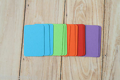 Bright Colours MINI Business Cards 50pc blank DIY escort cards craft name cards