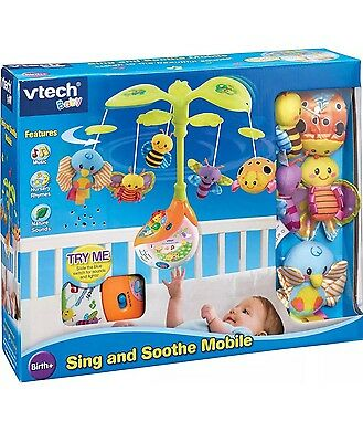 New Vtech Baby Sing Soothe Cot Mobile Interactive Nursery Rhymes Musical BNIB