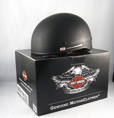 Harley Davidson Mens Matte Black Half Helmet New W/ Box X-Small 98335 15Vm