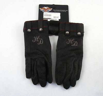 Harley Davidson Women Leather Gloves 98222-16Vw X-Small  New W/ Tag