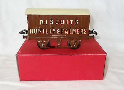 908:Vintage Boxed Original Hornby O Gauge Huntley & Palmers Private Owner Wagon
