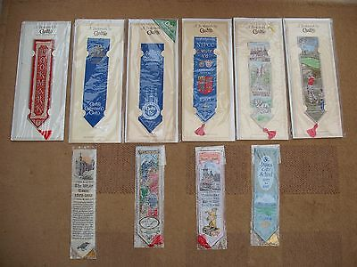 Mixed lot of 10 Cashs and Berisfords woven bookmarks all in original packaging