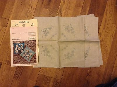 Briggs Pre Printed Cushion Cover X 2 Embroidery Sewing Tapestry Wool Work Kit