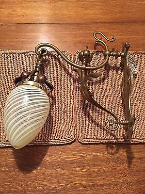 Arts And Crafts Wall Light With Original Vaseline Shade