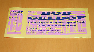 Bob Geldof - 1990 Town & Country Club Gig Ticket Stub (Boomtown Rats)
