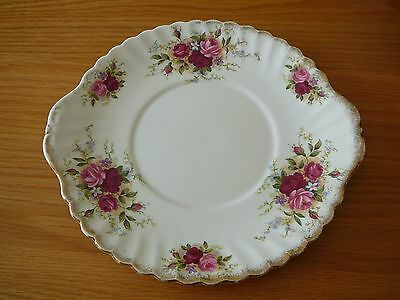 "Queen Anne China  ""Summer Days"" Rose Floral Design Cake/Sandwich Plate"