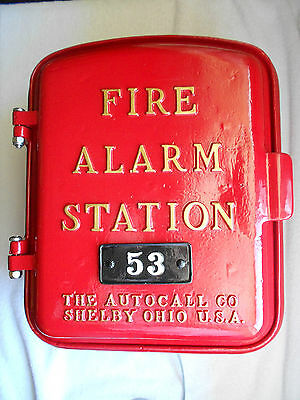 AUTOCALL 1940's Fire Alarm Call Box Telephone Antique Phone Police Gamewell Old