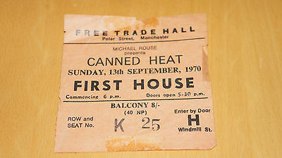 Canned Heat - 1970 Manchester Free Trade Hall Gig Ticket Stub