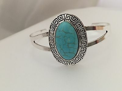 Only 1p!!! New Vibrant Women's Turquoise Bangle - Perfect Gift (bracelet, Cuff)