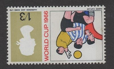 1966 World Cup (phos). 1s 3d value inverted watermark variety. Unmounted mint.