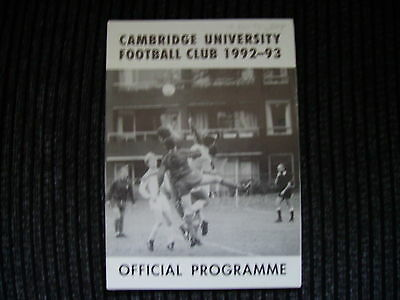 Non League Cambridge University v Ipswich X1 Friendly 1992/93