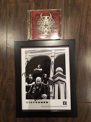 """Disturbed Band Autographed 8""""X10"""" and CD"""