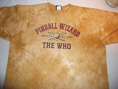vintage THE WHO Pinball Wizard Liquid Blue Shirt XL Made in USA rare oop EUC