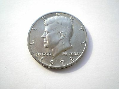 LARGE HARD TO FIND-KENNEDY 1/2 DOLLAR-COIN FROM THE USA -DATED 1972-nice