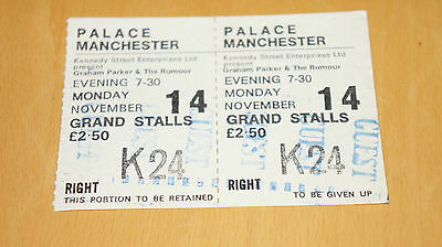 Graham Parker and the Rumour - 1977 Machester Palace Ticket Stub - Guest
