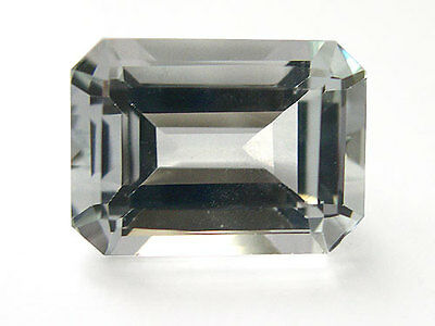 8x6mm OCTAGON-FACET ICE-WHITE NATURAL AFRICAN TOPAZ GEMSTONE £1 NR!