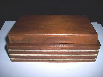 Vintage Art Deco Wooden Box For Trinkets, Collectibles, Precious Stuff And More.