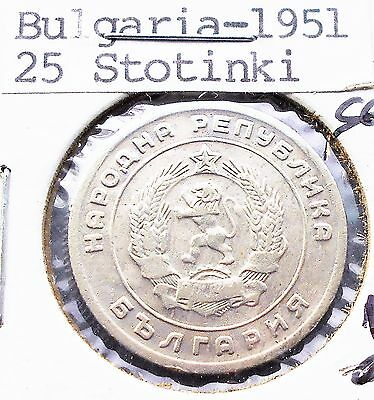 1951 Bulgaria 20 Stotinki KM# 54 National Arms Lion 1 Year Nice Gem BU # PB 2