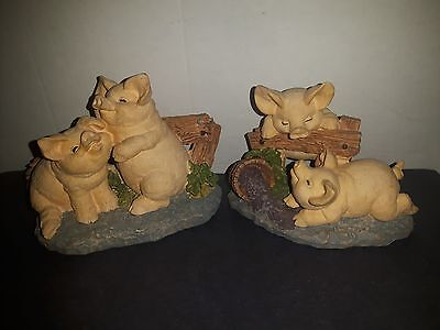 Russ Truffle Pigs Ornaments Collectible 2 Qnty