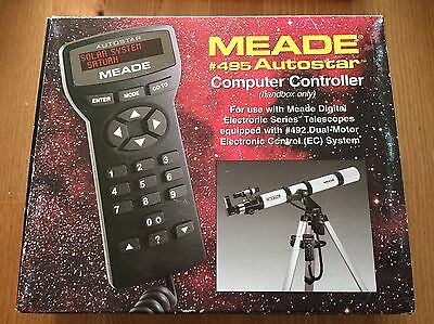 Meade #495 autostar computer telescope controller unused  in opened box  Handbox