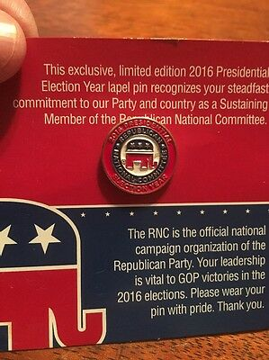 2016 Republican National committee Exclusive Limited Edition pin AND Trump Pic
