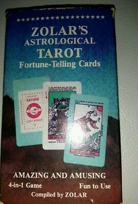 Zolar's Astrological Tarot Fortune-Telling Cards  OOP Vintage (1982)